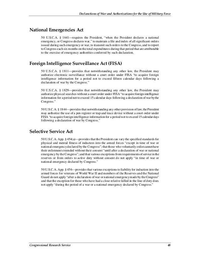 Declarations of war history