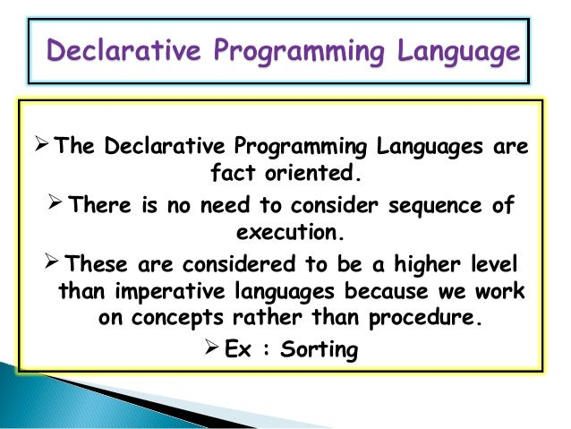 declarative programming language