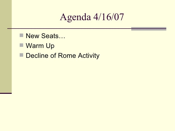 the decline of rome Are we rome if so, is the end nigh mike duncan was often asked these questions while writing his history of rome podcast and his new book.