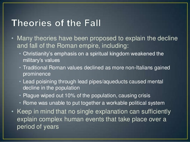 Causes of the Decline and Fall of the Western Roman Empire