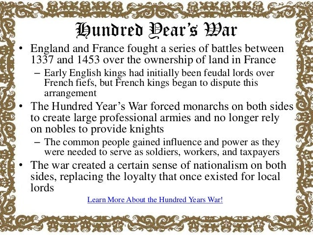 Hundred Years War Essay Sample