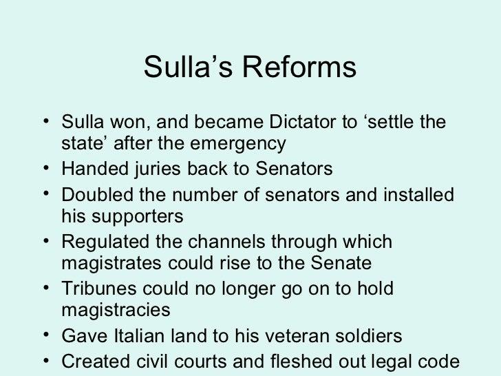 Constitutional reforms of Sulla