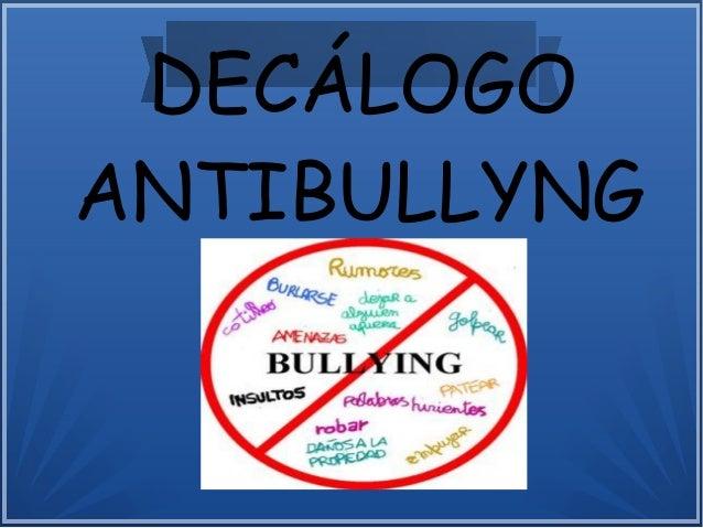 DECÁLOGO ANTIBULLYNG