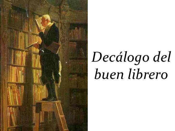 Decálogo delbuen librero
