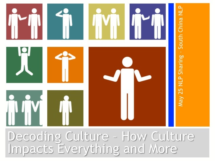 May 25 NLP Sharing – South China NLPDecoding Culture – How CultureImpacts Everything and More
