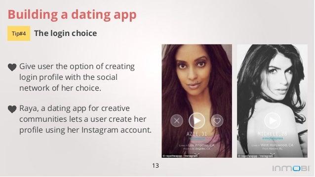 Creative dating app