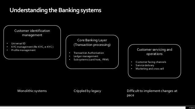 page 5 UnderstandingtheBankingsystems Core Banking Layer (Transaction processing) • TransactionAuthorisation • Ledger mana...