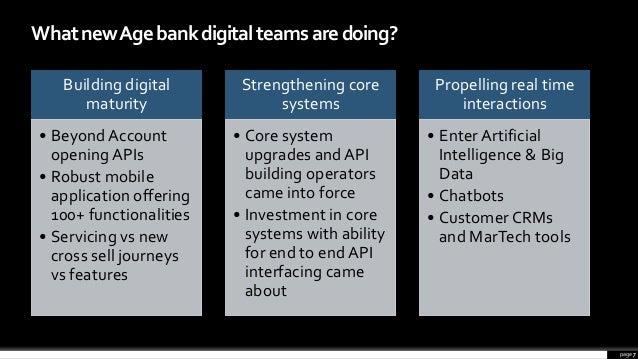 page 7 WhatnewAgebankdigitalteamsaredoing? Building digital maturity • BeyondAccount opening APIs • Robust mobile applicat...
