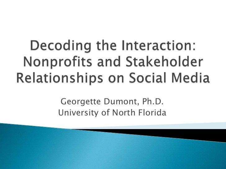 Georgette Dumont, Ph.D.University of North Florida