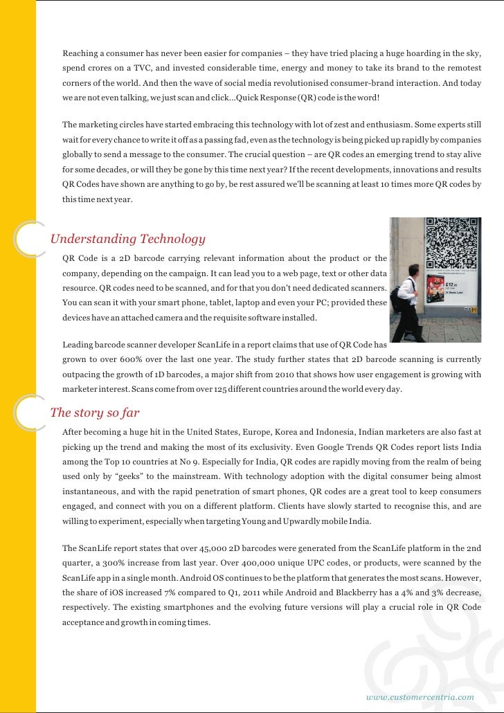 QR Codes: Transforming Consumer-Brand Interactions Slide 2