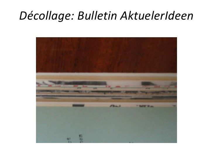 Décollage: Bulletin AktuelerIdeen<br />