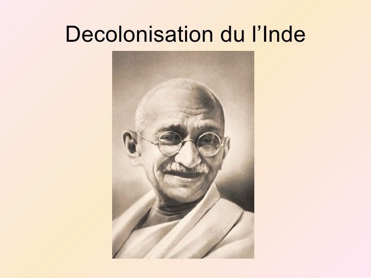 Decolonisation du l'Inde