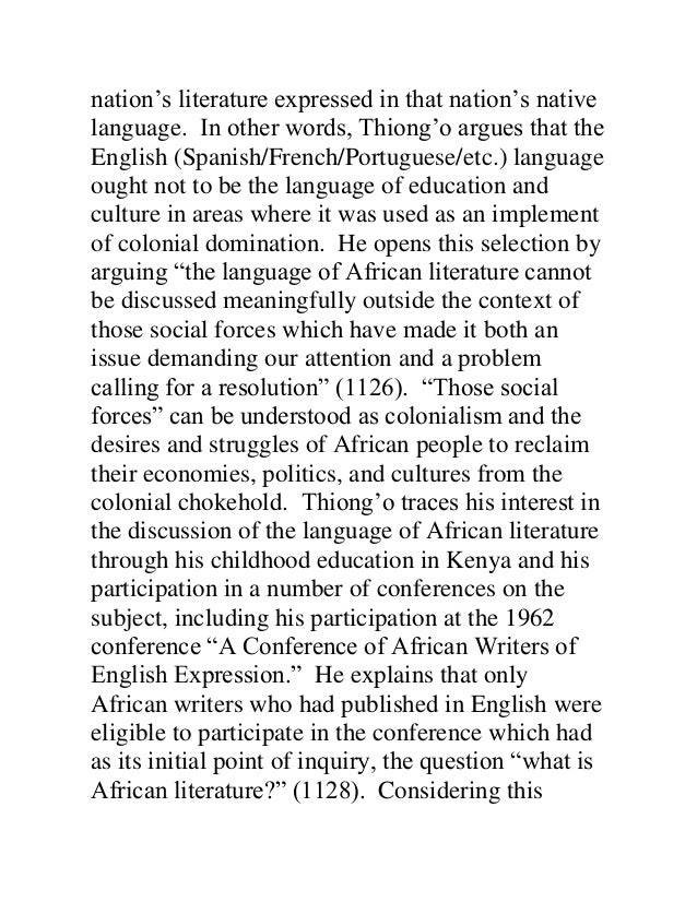 decolonising the mind summary pdf