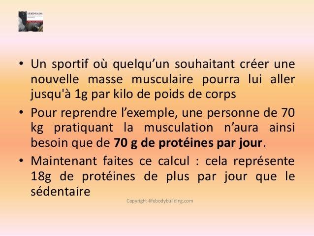 pourcentage de proteine par jour