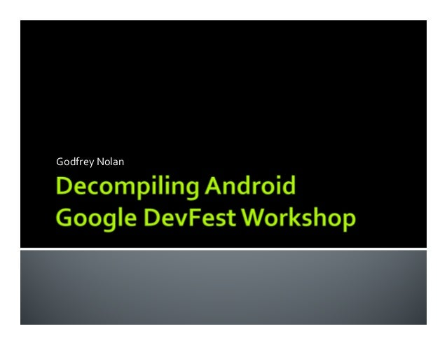 Decompiling Android Workshop