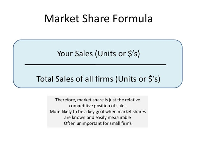 formula Market penetration