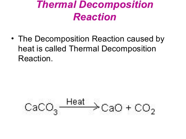 10 Examples of Decomposition Reactions