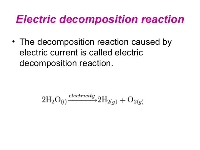 Decomposition Reaction Examples For Kids