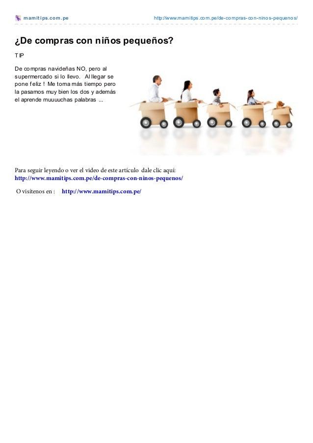 mamit ips.com.pe http://www.mamitips.com.pe/de-compras-con-ninos-pequenos/¿De compras con niños pequeños?TIPDe compras nav...