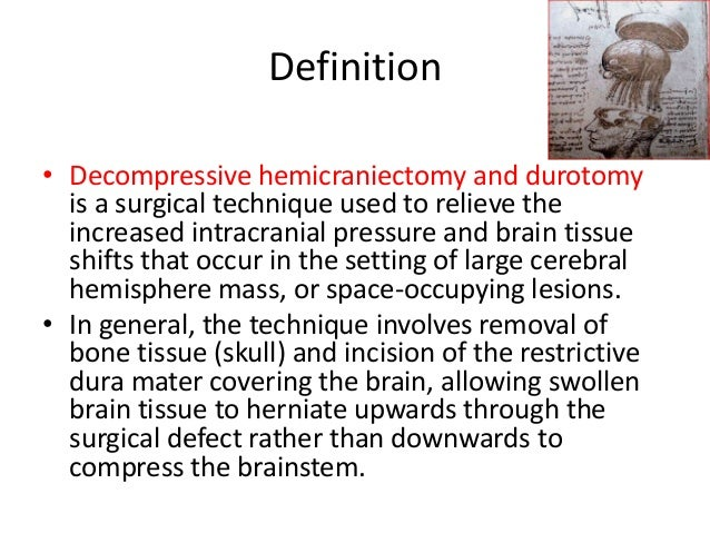 Decompressive craniectomy in Traumatic Brain Injury