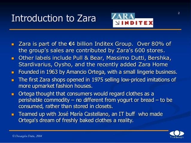 Deconstructing zara handout version