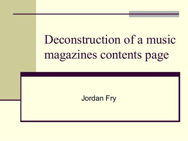 Deconstruction music online dissertation
