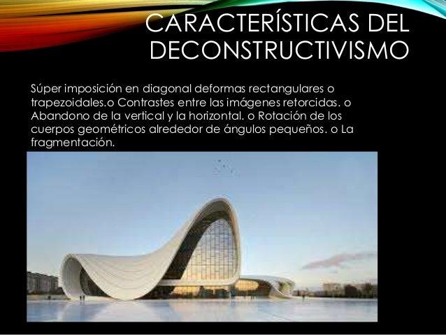 Arquitectura deconstructivista for Obra arquitectonica definicion