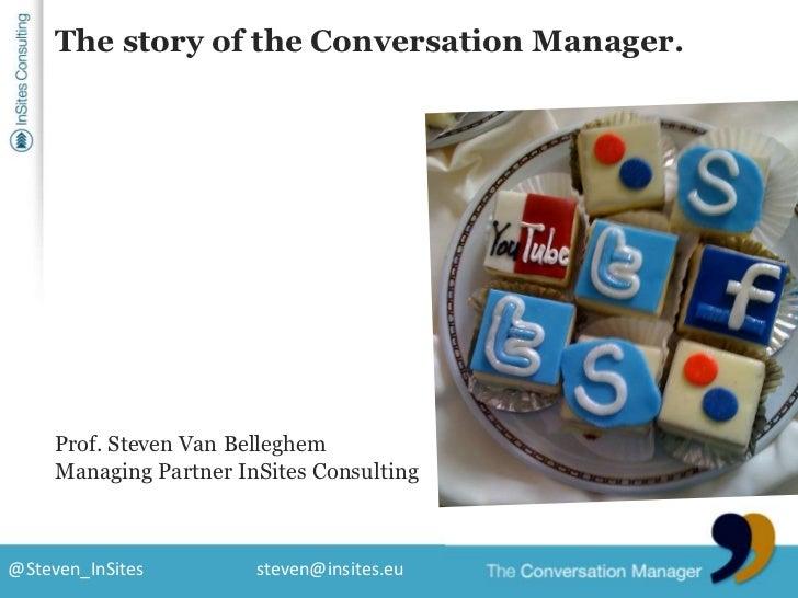 The story of the Conversation Manager.<br />Prof. Steven Van Belleghem<br />Managing Partner InSites Consulting<br />