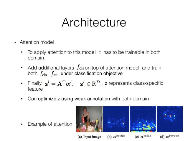 Architecture - Decoder • Output of attention model is spare due to softmax, it may lost information for shape generation •...