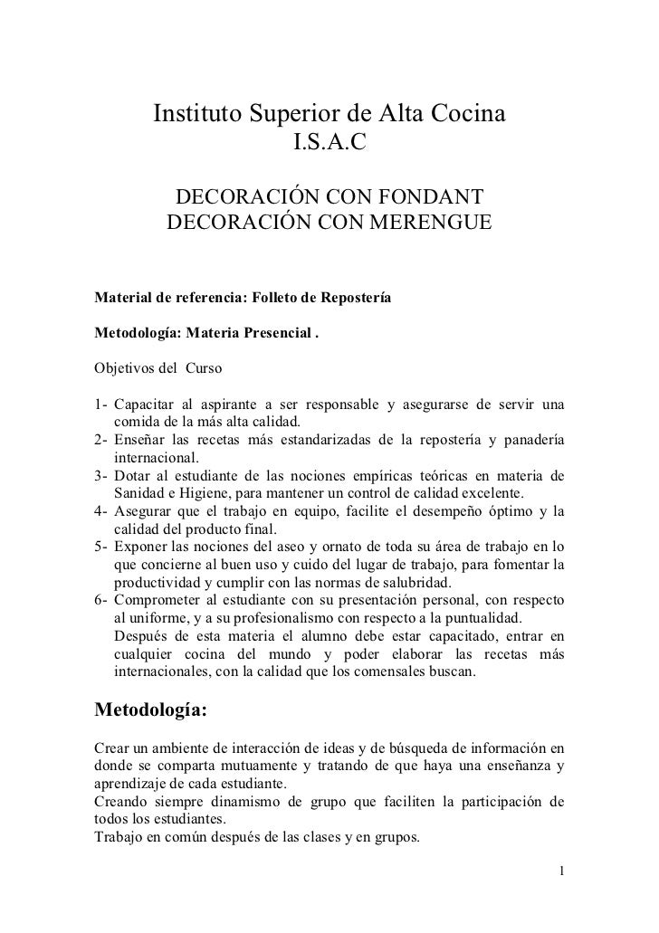 Instituto Superior de Alta Cocina                               I.S.A.C            DECORACIÓN CON FONDANT           DECORA...