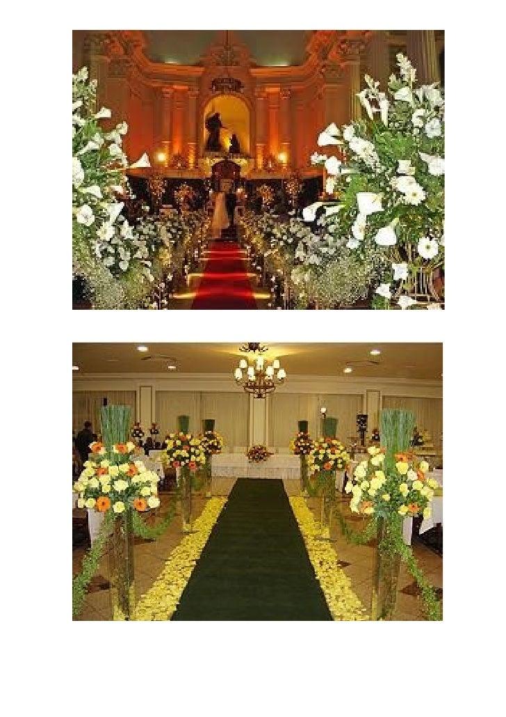 Site com bastantes idéias, categorizadas por local (altar, recepção, etc...):  http://www.floriculturaelij.com.br/decoraca...