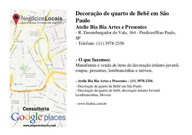 Decoração de quarto de Bebê em SãoPauloAtelie Bia Bia Artes e Presentes- R. Desembargador do Vale, 164 - Perdizes0Sao Paul...
