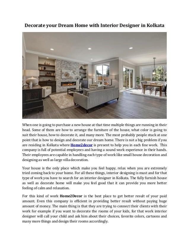Decorate Your Dream Home With Interior Designer In Kolkata