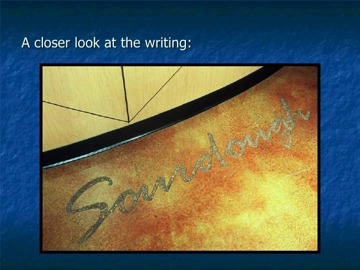 A closer look at the writing: