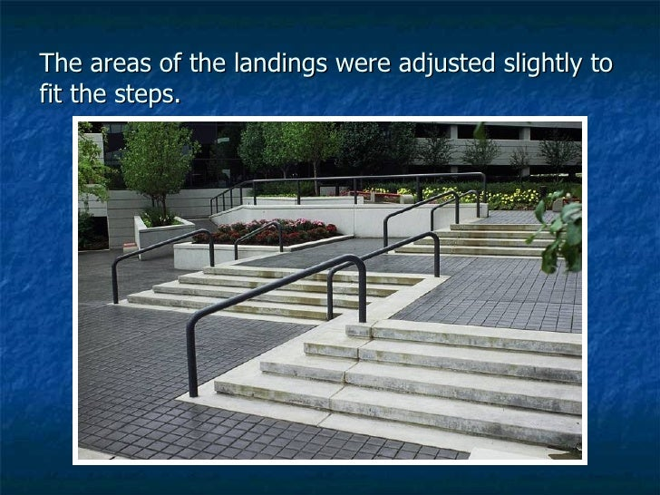 The areas of the landings were adjusted slightly to fit the steps.