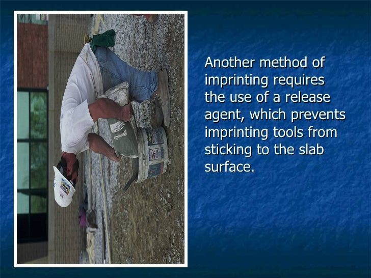 Another method of imprinting requires the use of a release agent, which prevents imprinting tools from sticking to the sla...