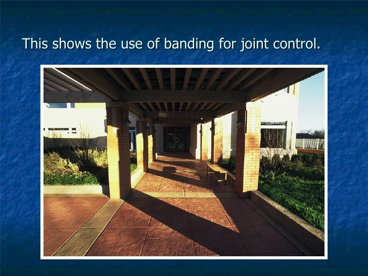 This shows the use of banding for joint control.