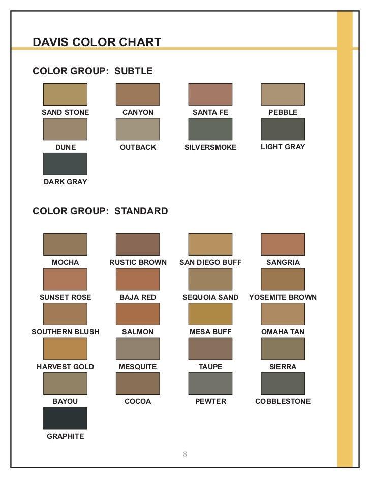 Davis concrete color chart people davidjoel co