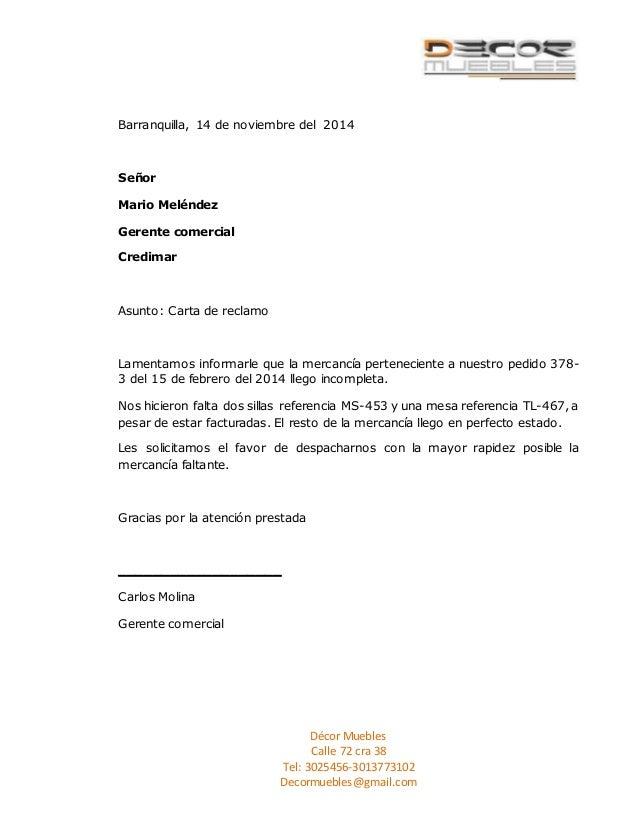 Modelo de carta de reclamacion modelo carta de reclamo for Clausula suelo wikipedia