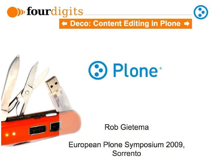 Deco UI: European Plone Symposium 2009