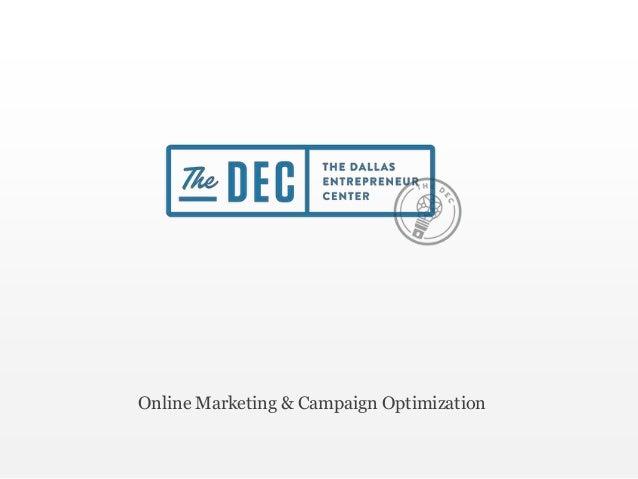 Online Marketing & Campaign Optimization