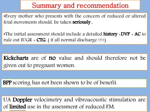 ACOG Guidelines at a Glance: Antepartum fetal surveillance