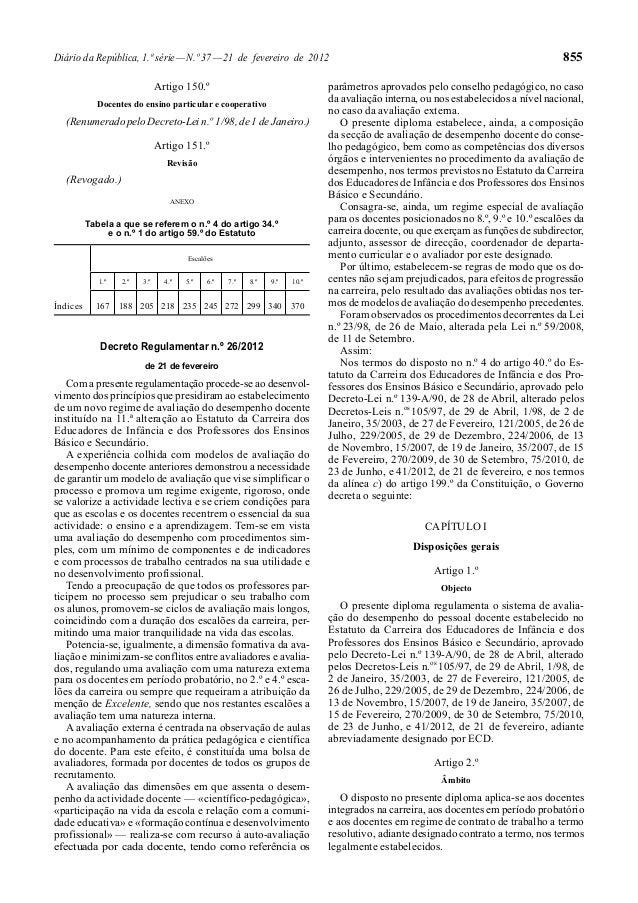 Diário da República, 1.ª série—N.º 37—21 de fevereiro de 2012 855 Artigo 150.º Docentes do ensino particular e cooperativo...