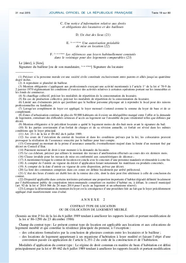 Contrat type location maison ventana blog - Modele de contrat de location saisonniere meublee ...
