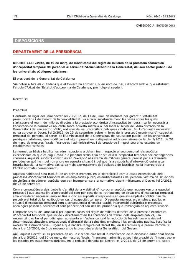 1/3                                    Diari Oficial de la Generalitat de Catalunya             Núm. 6340 - 21.3.2013     ...