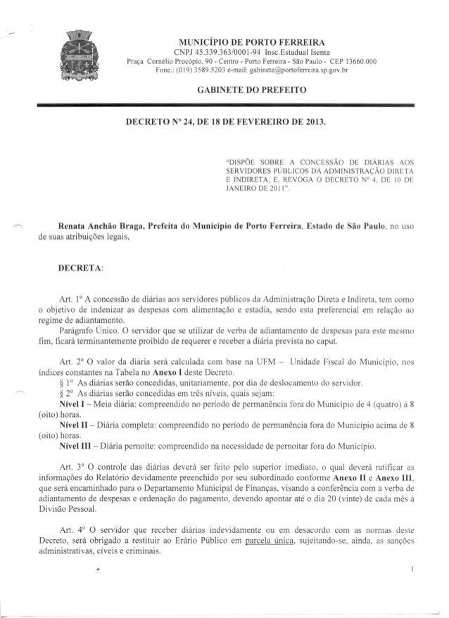 Decreto   24 - 18 de fevereiro de 2013