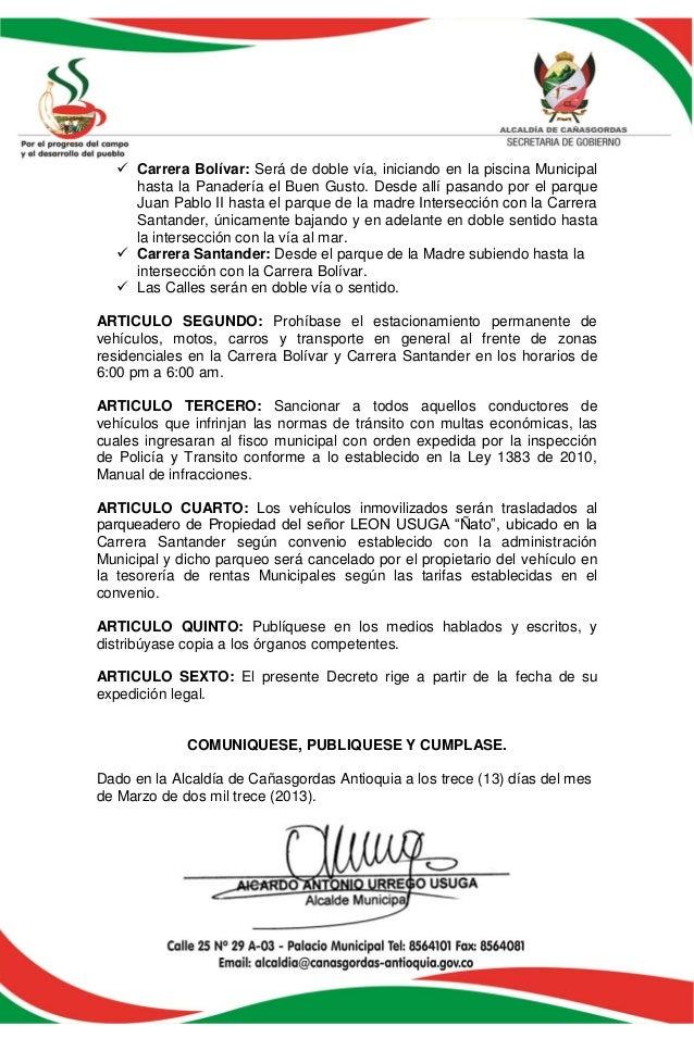 Decreto 005 de 2013 - Piscina municipal santander ...