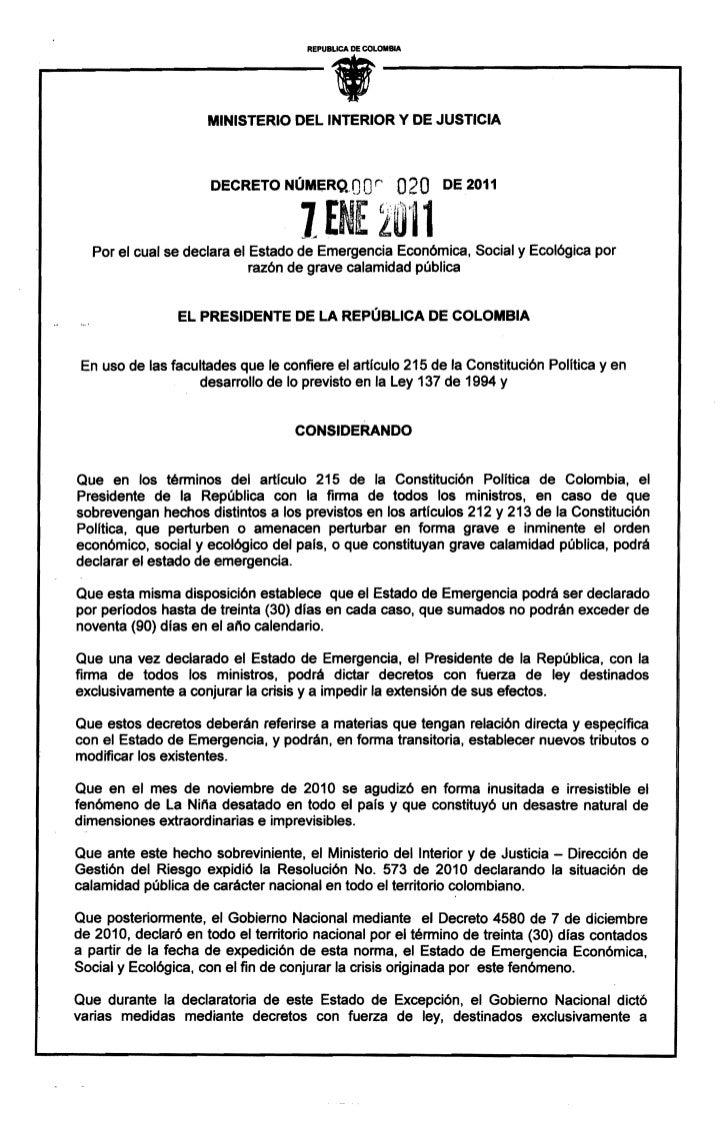 REPUBLICA DE COLOMBIA                                           •                     MINISTERIO DEL INTERIOR Y DE JUSTICI...