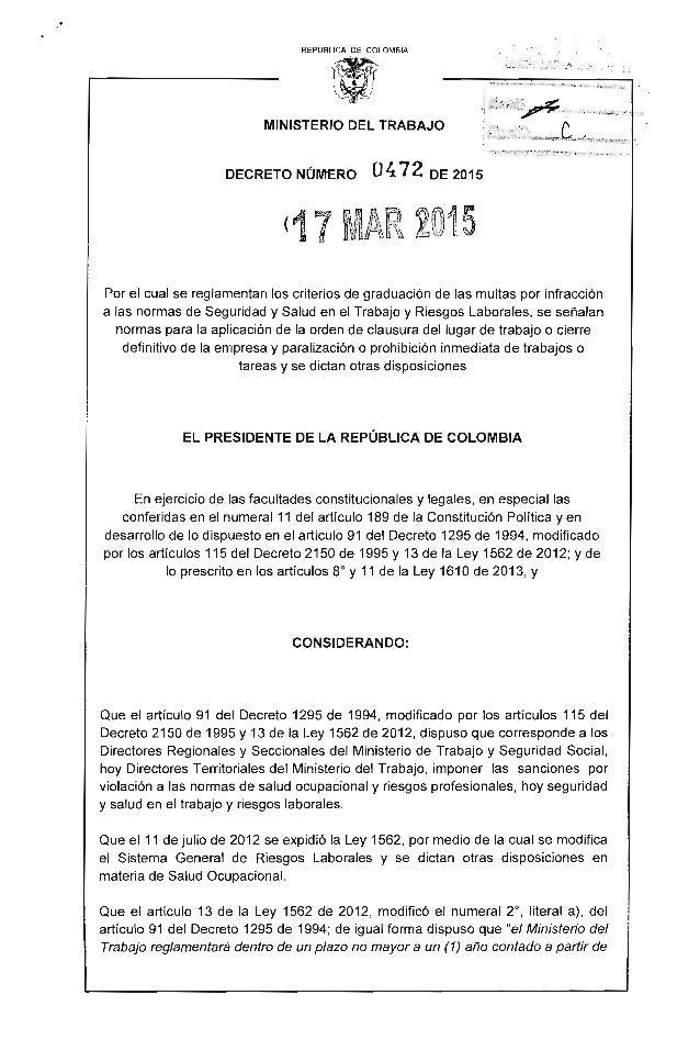 """REPUBLlCA DE COLOMBIA 1~' */ ;¡¡g;;;:u'¡ai~~ ._.,« .;.._~""""..~~ :"""".;.,~ MINISTERIO DEL TRABAJO ;·=:~;,:·~;:;.'::;..,-=,,-....."""