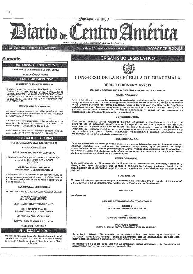 Decreto 10 2012